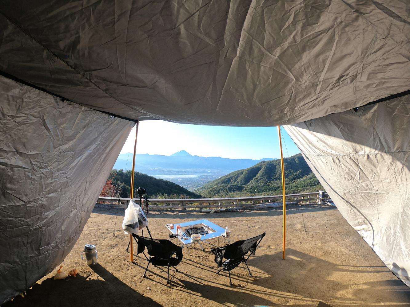 ハイエース車中泊キャンプ