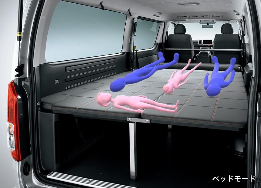 ハイエース4人家族の車中泊イメージ